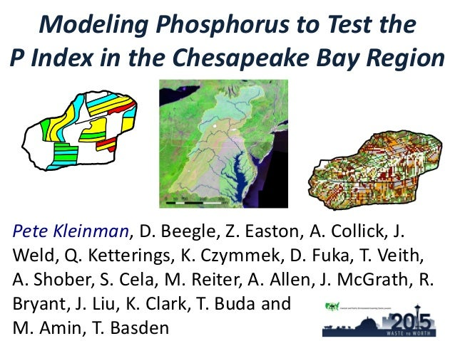 Modeling Phosphorus to Test the P Index in the Chesapeake Bay Region Pete Kleinman, D. Beegle, Z. Easton, A. Collick, J. W...