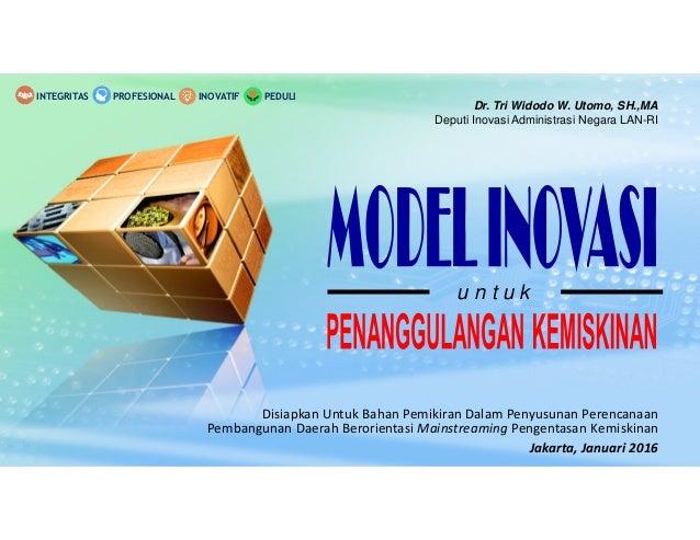 Dr. Tri Widodo W. Utomo, SH.,MA Deputi Inovasi Administrasi Negara LAN-RI u n t u k Disiapkan Untuk Bahan Pemikiran Dalam ...