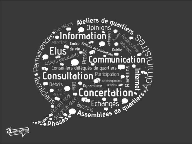 Les phases    d'INFORMATION          et de PARTICIPATION   dans les projetsd'AMENAGEMENTS        des   ESPACES PUBLICSet d...