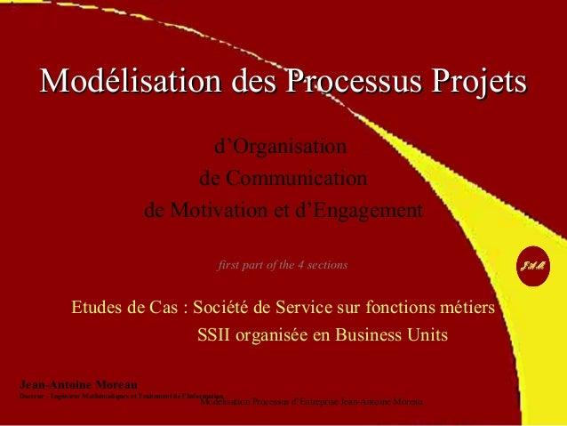 MMooddéélliissaattiioonn ddeess PPrroocceessssuuss PPrroojjeettss  d'Organisation  de Communication  de Motivation et d'En...