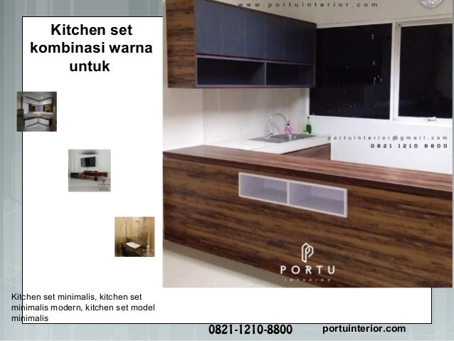 Model Kitchen Set Minimalis Untuk Dapur Menarik