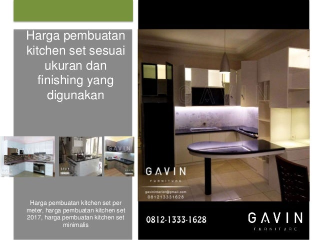 Harga Kitchen Set Per Meter Murah Gavin Furniture