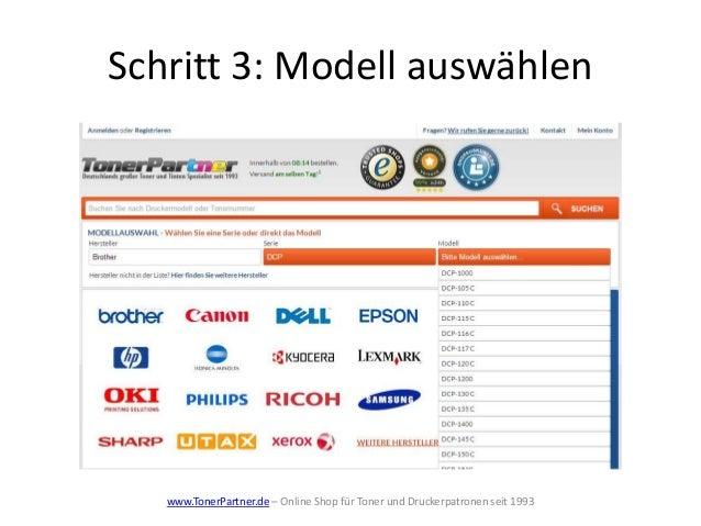 Schritt 3: Modell auswählen www.TonerPartner.de – Online Shop für Toner und Druckerpatronen seit 1993