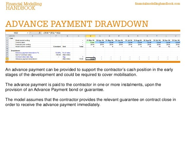 modelling advance payments  u0026 retentions in construction