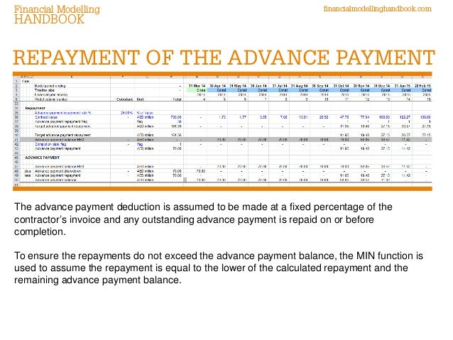 Modelling advance payments retentions in construction for Typical bank construction loan disbursement schedule