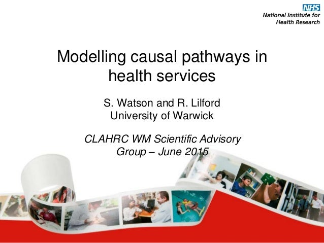 Modelling causal pathways in health services S. Watson and R. Lilford University of Warwick CLAHRC WM Scientific Advisory ...