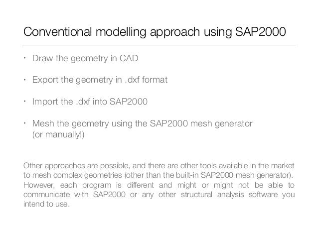 Modelling complex geometry structures using SAP2000 API