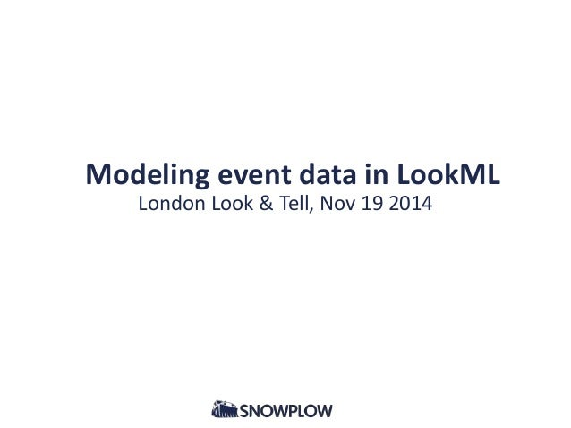 Modeling event data in LookML  London Look & Tell, Nov 19 2014