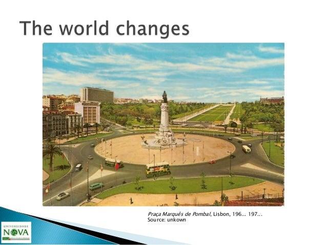 """Praça Marquês de Pombal, Lisbon, nowadays...in Bing maps bird""""s eye view"""