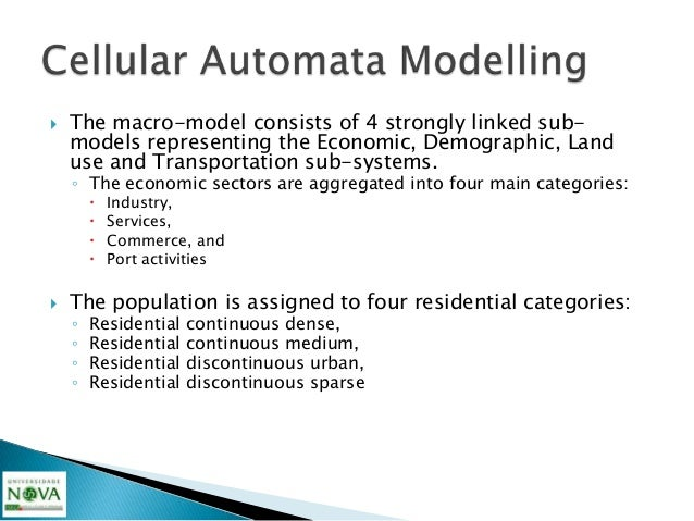    MOLAND – Advantages    ◦ MOLAND is the model that comes nearest to real      percentages of each type of growth and it...