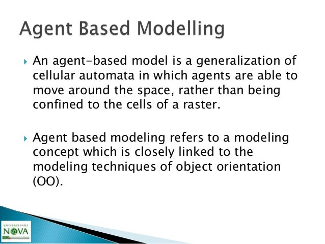    Agents are a representation and a simplification    of complex (including human) behavior, this    representation is e...