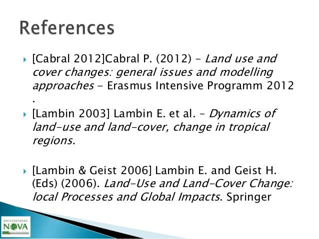    [Lavalle 2004] Lavalle, C. et al. 2004-The    MOLAND model for urban and regional    growth forecast - A tool for the ...