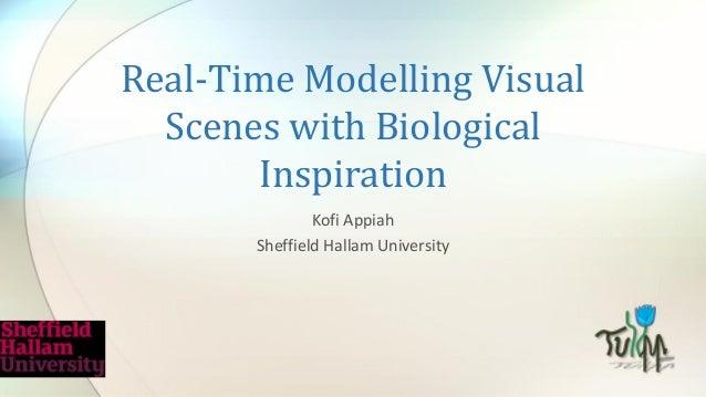 Real-Time Modelling Visual Scenes with Biological Inspiration Kofi Appiah Sheffield Hallam University