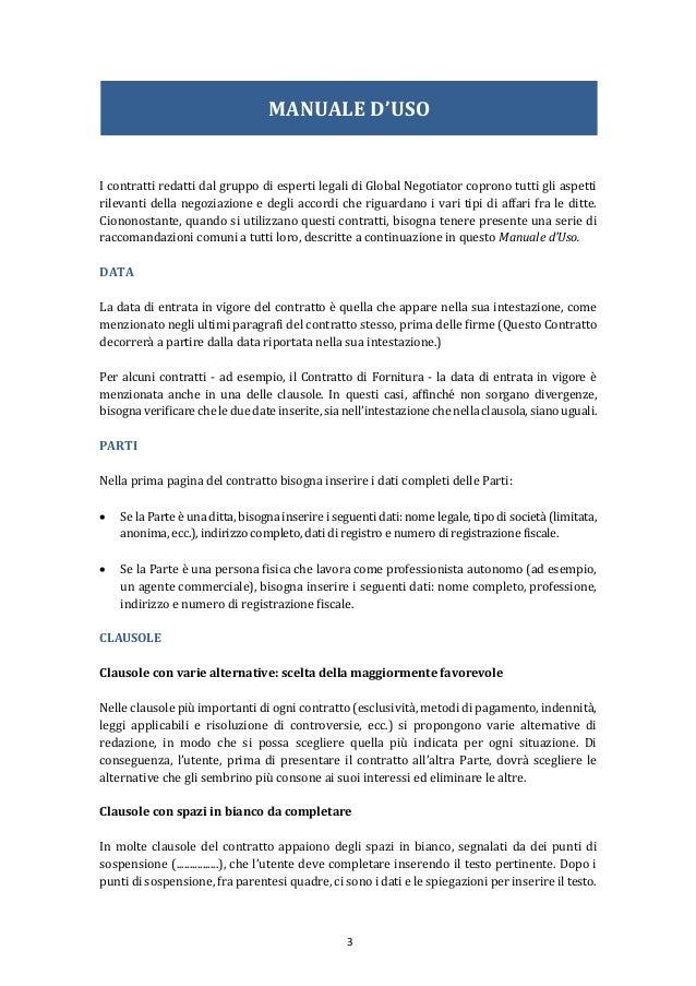 Contratto di distribuzione internazionale for Contratto 3 2