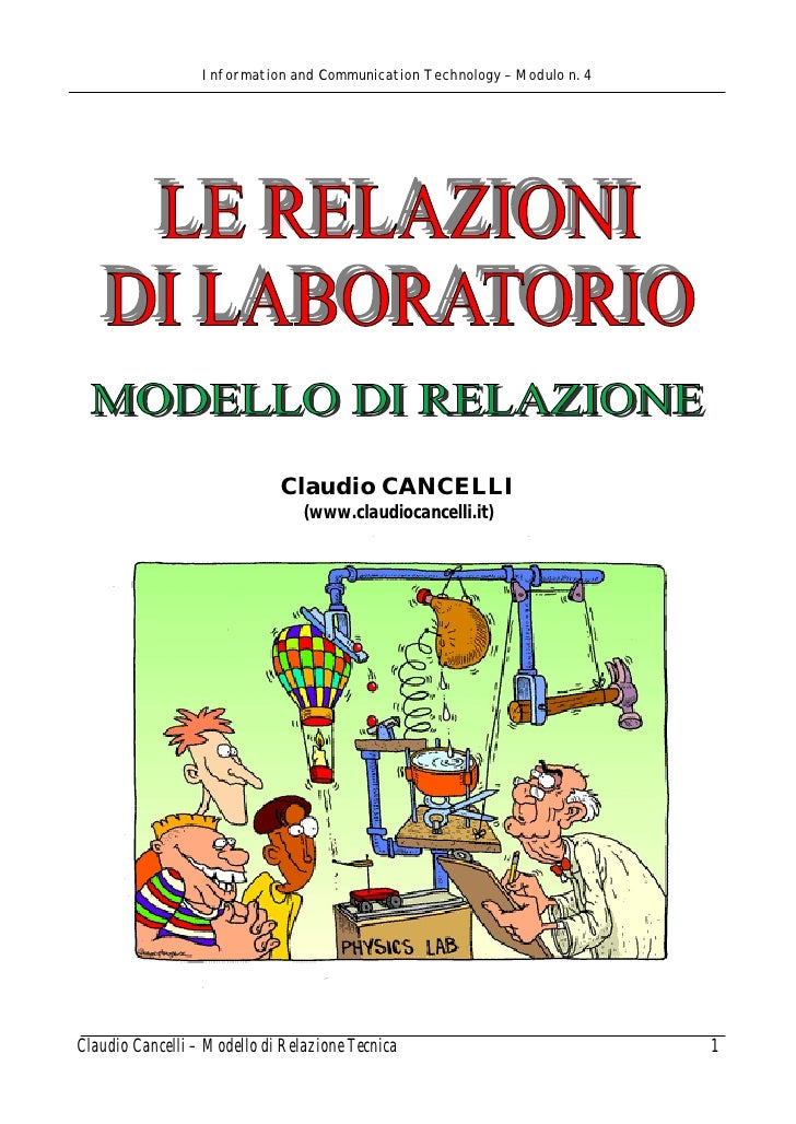 Information and Communication Technology – Modulo n. 4                             Claudio CANCELLI                       ...