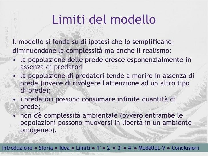Limiti del modello <ul><li>Il modello si fonda su di ipotesi che lo semplificano, </li></ul><ul><li>diminuendone la comple...