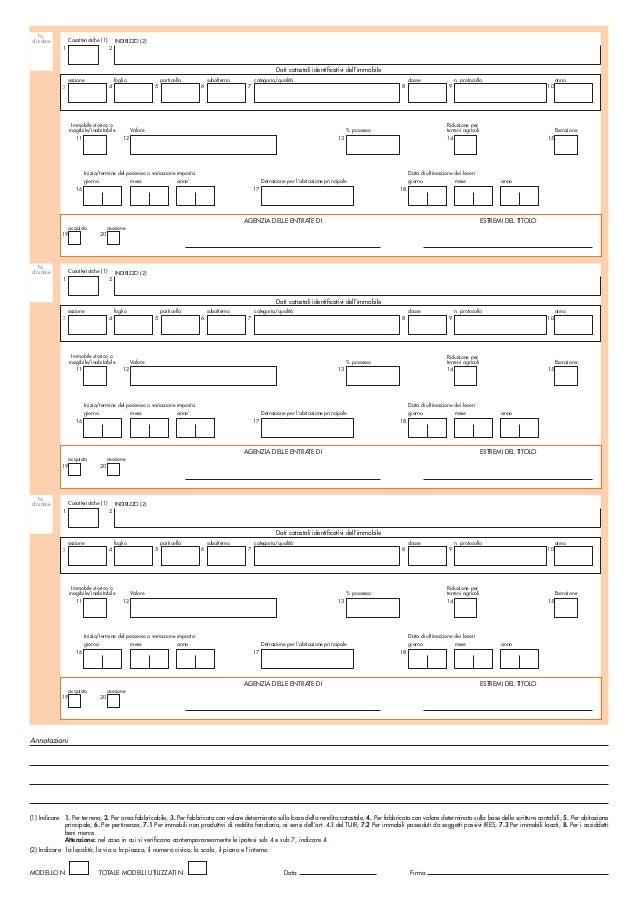 Modello ufficiale dichiarazione imu for Abitazione principale imu