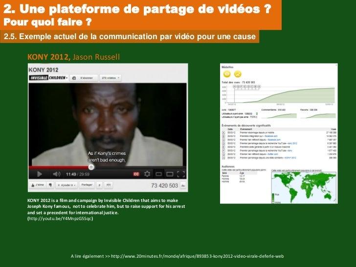 2. Une plateforme de partage de vidéos ?Pour quoi faire ?2.5. Exemple actuel de la communication par vidéo pour une cause ...