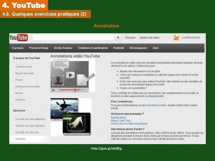 4. YouTube4.6. Quelques exercices pratiques (2)                                         Annotation                        ...