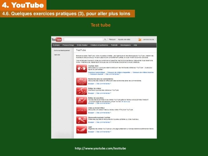 4. YouTube4.6. Quelques exercices pratiques (3), pour aller plus loins                                           Test tube...