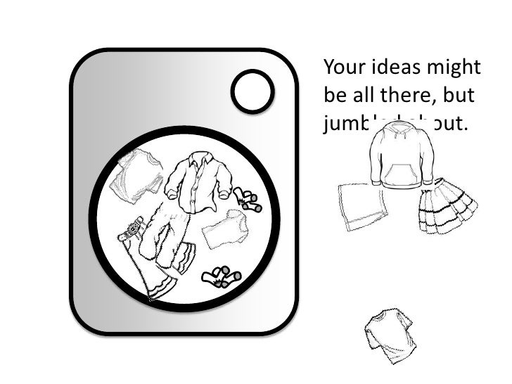 Your ideas might be all there, but jumbled about.<br />