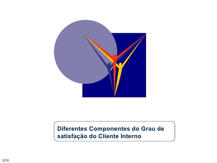 Diferentes Componentes do Grau de satisfação do Cliente Interno
