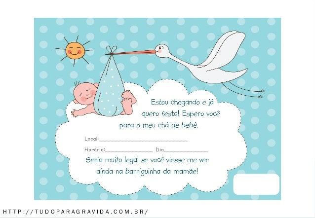 Convite Para Cha De Bebe Menino Azul 1