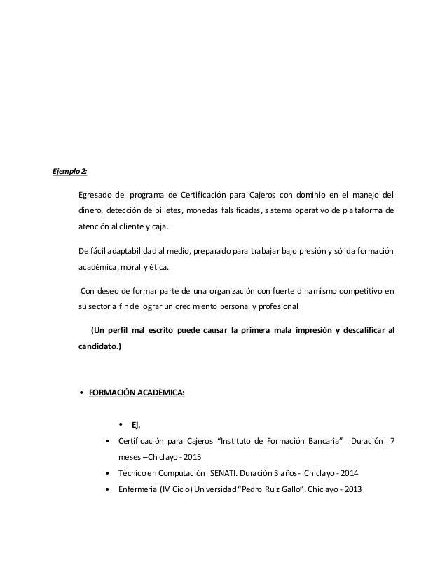 modelos de curriculum vitae del ifb