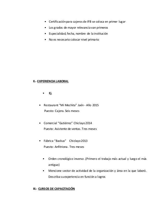 curriculum vitae del ifb