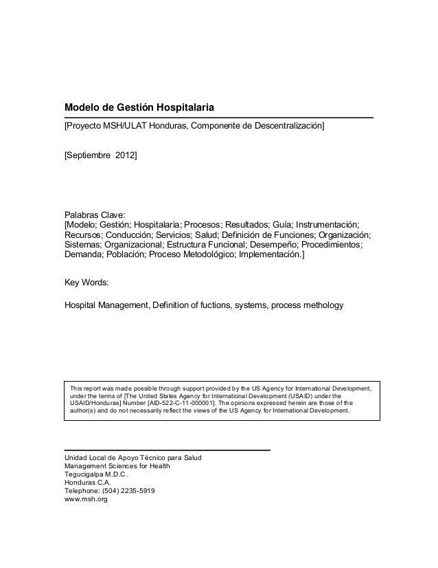 Modelo de-gestión-hospitalaria.-secretaria-de-salud.-honduras.2012