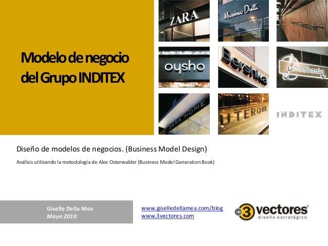Modelodenegocio delGrupoINDITEX Análisis utilizando la metodología de Alex Osterwalder (Business Model Generation Book) Di...
