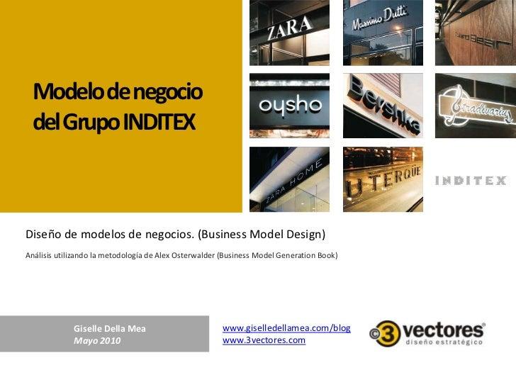Modelo de negocio<br />del Grupo INDITEX<br />Diseño de modelos de negocios. (Business ModelDesign)<br />Análisis utilizan...