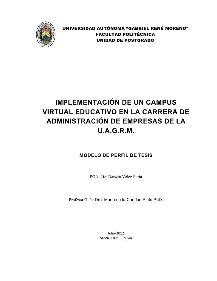 """UNIVERSIDAD AUTÓNOMA """"GABRIEL RENÉ MORENO""""               FACULTAD POLITÉCNICA                UNIDAD DE POSTGRADO   IMPLEME..."""