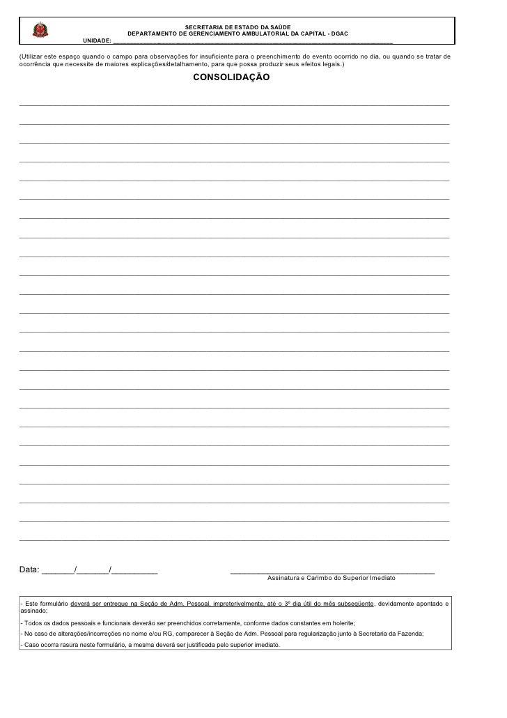 Modelo de Registro de Ponto Verso