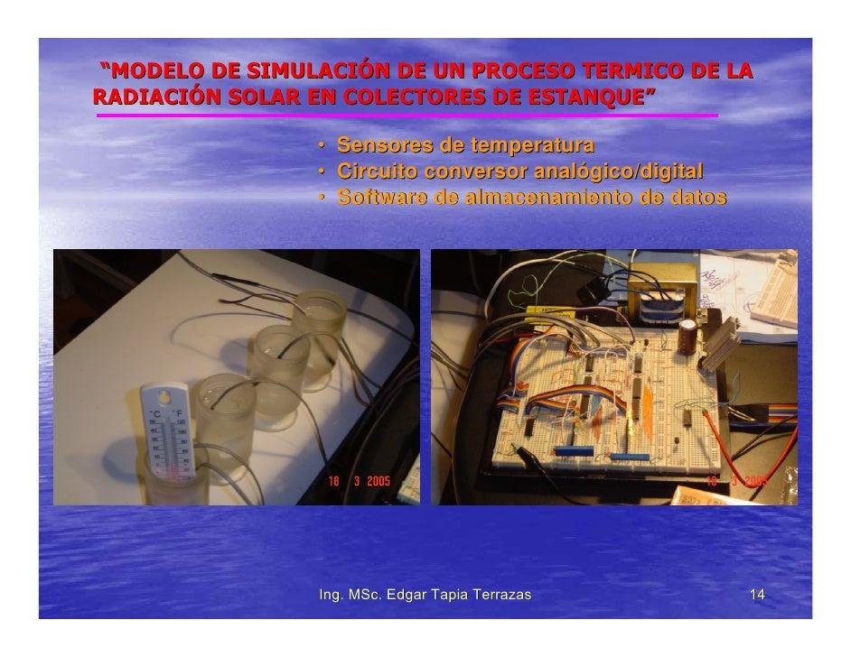 Modelo de simulacion de una proceso termico de la for Modelos de estanques