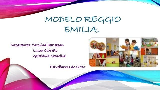 MODELO REGGIO EMILIA. Integrantes: Carolina Barragan Laura Carreño Geraldine Mancilla Estudiantes de LPIN.