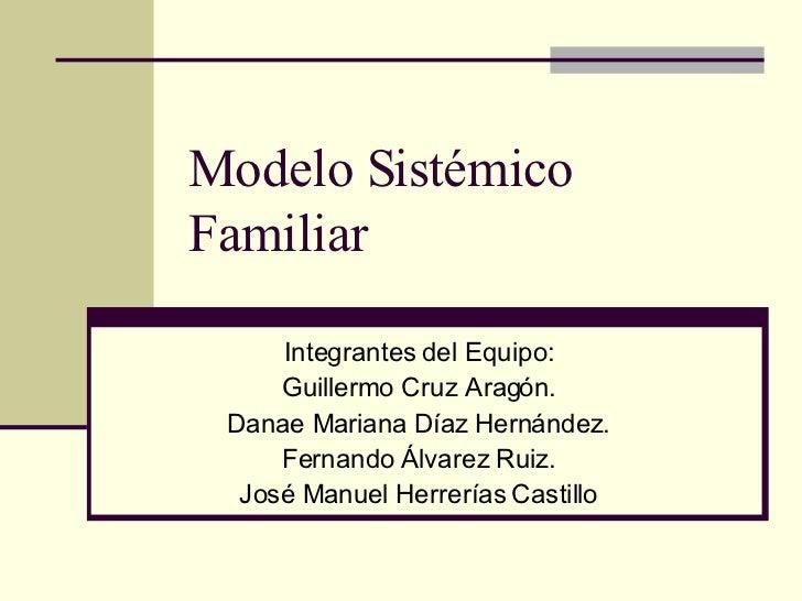 Modelo Sistemico Familiar