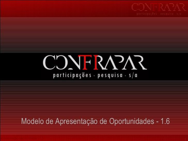 M odelo de  A presentação de  O portunidades  - 1.6
