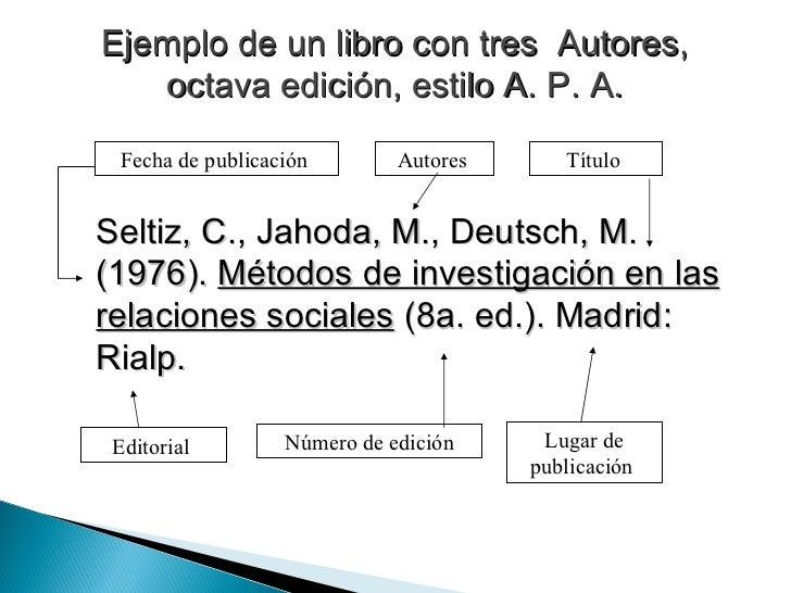 Ejemplos De Citas Bibliograficas De Libros Apa Cita Online