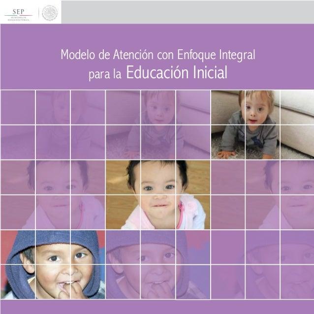 Modelo de atencion con enfoque integral para la educaci n for Programa curricular de educacion inicial