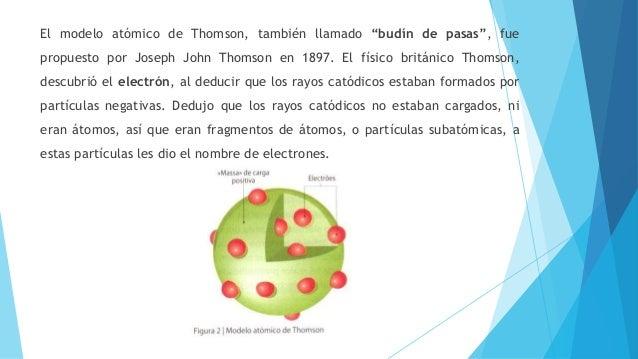 Modelo atómico de dalton y thomson