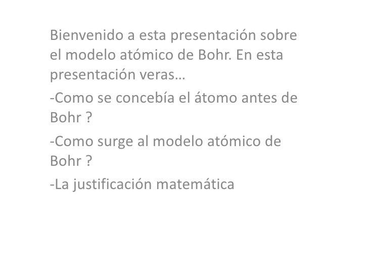 Modelo atomico de bohr Slide 2