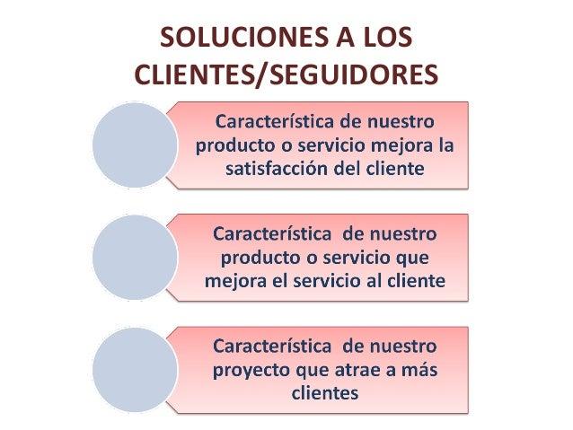 SOLUCIONES A LOS CLIENTES/SEGUIDORES