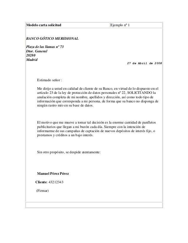Carta solicitud - Como saber si una casa es del banco ...