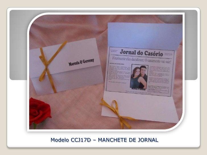 Modelo CCJ17D – MANCHETE DE JORNAL