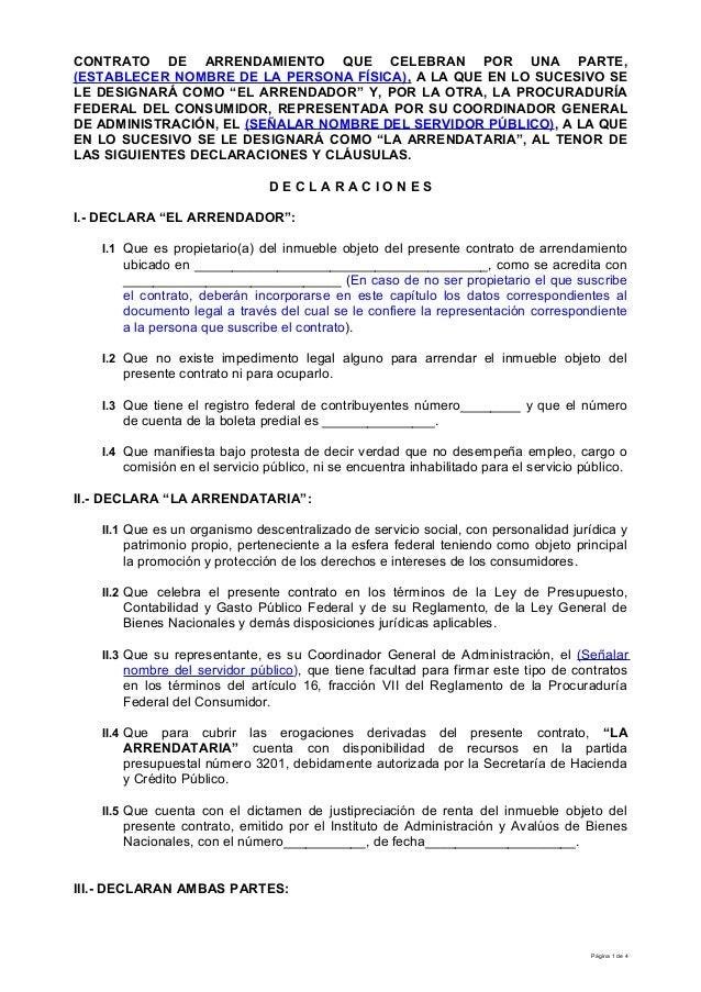 Modelo Contrato Arrendamiento Persona F Sica