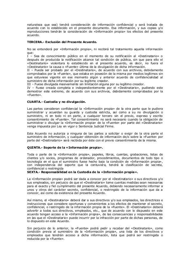 Modelo contrato de confidencialidad for Contrato documento