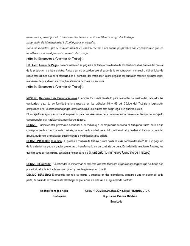 Modelo cto de trabajo 1 for Formato de contrato de trabajo indefinido