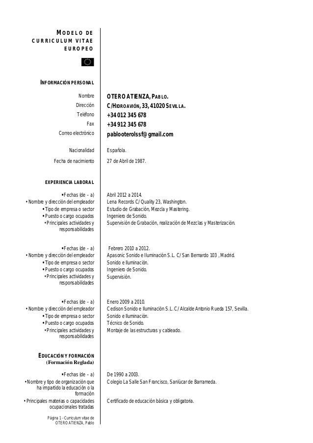 Currículum Pablo Otero
