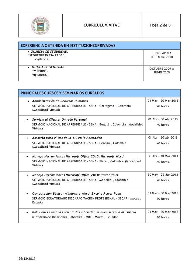 formatos de curriculum en word